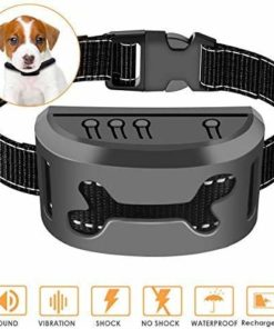 Zomma Bark Collar, 2019 Upgraded Barking Control Device, Adjustable Vibration, Shock Sensitivity Level, Rechargeable Waterproof, Barking Detection Small Large Dog, No Bark Collar