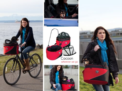 DoggyRide Cocoon Bicycle Basket on Britch Rack for Front or Rear Connection – IDA Design Award Winner