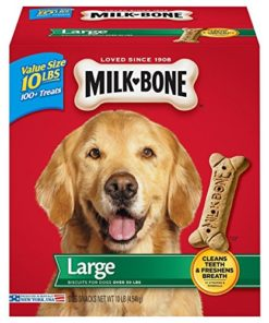 Milk-Bone Original Dog Treats, Cleans Teeth, Freshens Breath for Large Dogs, 10 Lb. Box