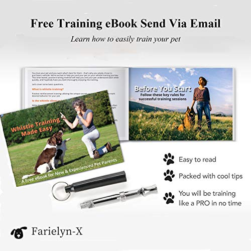 Farielyn-X 4 Pack Dog Whistle in 4 Colors – Professional Dog Training Whistle to Stop Barking -Adjustable Frequency Ultrasonic Sound Training Tool – Adjustable Pitch – Free Premium Quality Lanyard