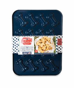 Nordic Ware 30925 Puppy Love Pan and Mix Set, 2-Piece, Blue
