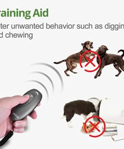 MODUS Anti Barking Device, Ultrasonic Dog Bark Deterrent and 2 in 1 Dog Training Aid Control Range of 16.4 Ft w/Anti-Static Wrist Strap LED Indicate Walk a Dog Outdoor