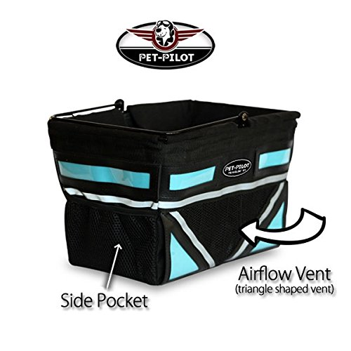 Pet-Pilot Original Dog Bike Basket Carrier | 10 color options for your bicycle -(5-Color)