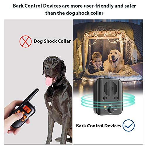 Coocamber Bark Control Device, Ultrasonic Anti Barking Device, 2020 Upgrade Stop Barking Dog Devices with 3 Ultrasonic Frequency Levels, Rechargeable Dog Bark Deterrent Indoor and Outdoor