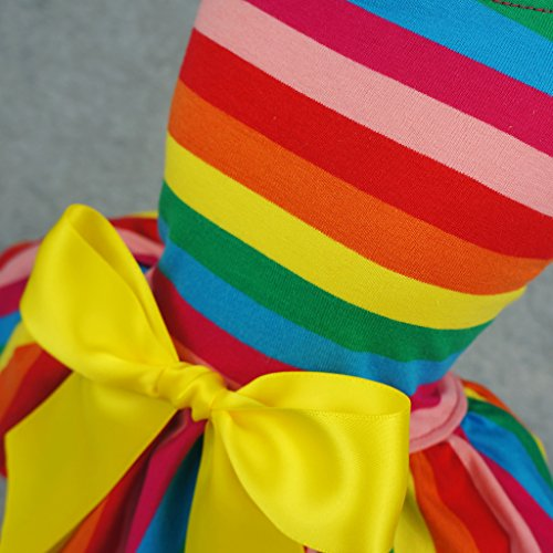 Fitwarm Rainbow Pet Clothes Dog Dresses Vest Shirts Sundress Medium