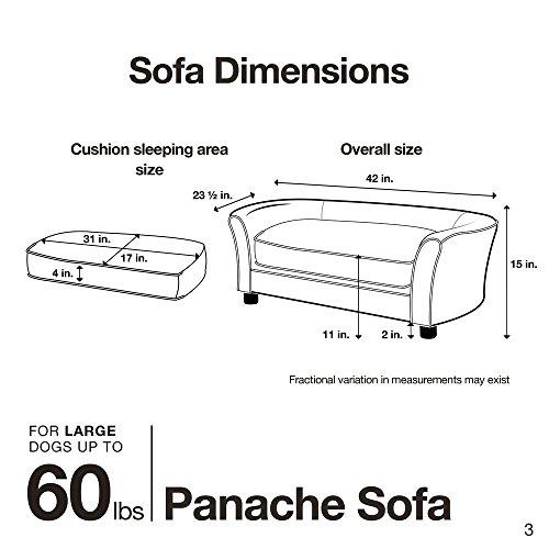 Enchanted Home Pet Ultra Plush Panache Pet Sofa in Pebble Brown, Medium (26-50 lbs)
