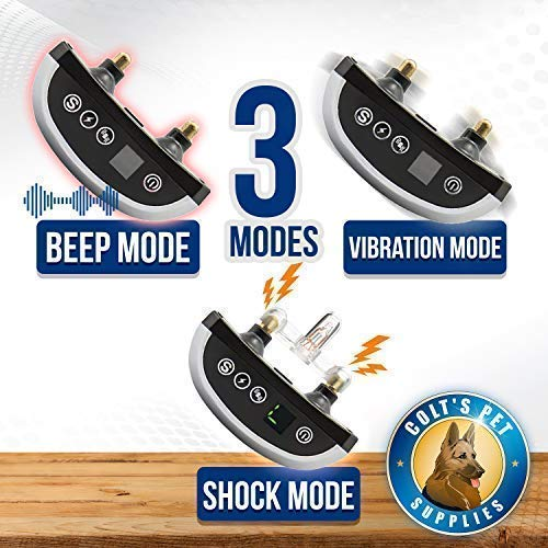 Bark Collar 2 Pack [Upgraded] | Anti-Barking Collar | Smart Chip | Beeps/Vibration/Shock Mode | For Small Medium and Large Dogs All Breeds Over 6 Lbs