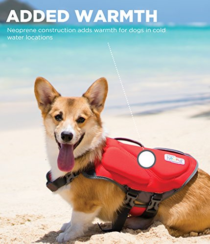 Outward Hound Dawson Dog Life Jacket, Small, Red