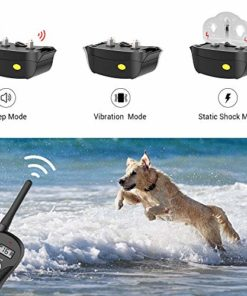 Shock Collar for Dogs – IPX7 Waterproof Dog Shock Collar with Remote IPX5 3000ft Range Dog Training Collar Fast Training Effect for Dog