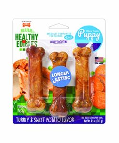 Nylabone Healthy Edibles Puppy Chew Treats, Turkey & Sweet Potato, Regular, 3 Count