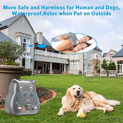 Tinzzi Anti Barking Device, Bark Control Device with 3 Adjustable Ultrasonic Volume Levels, Automatic Ultrasonic Dog Bark Deterrent for Small Medium Large Dog