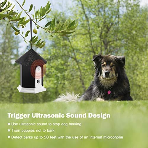 Anti Barking Device, Ultrasonic Dog Bark Controller, Waterproof Outdoor Anti Bark Control System in Birdhouse Shape
