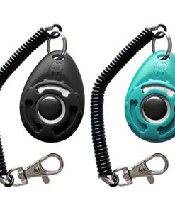 HoAoOo Pet Training Clicker with Wrist Strap – Dog Training Clickers (New Black + Blue)