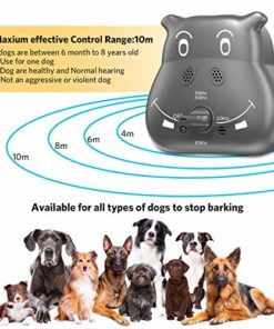 Anti Barking Device, Ultrasonic Dog Bark Deterrent ZINMOND, 2020 Bark Control Device with 3 Adjustable Ultrasonic Volume Levels, Automatic Dog Barking Control Devices for Small Medium Large Dog