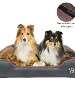 "TR pet Large Dog Beds, Pet Bed for Medium/Big/Extra Large Dogs, Dog Sofa Bed Pillow Washable with Removable Cover, Soft Cotton Stuffing, Calming Dog Bolster Couch (XXXL-Jumbo Dogs 44 x 35"", Grey)"