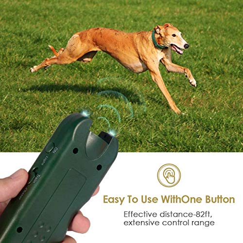 Mimill Handheld Dog Repellent, Ultrasonic Infrared Dog Deterrent, Bark Stopper + Good Behavior Dog Training