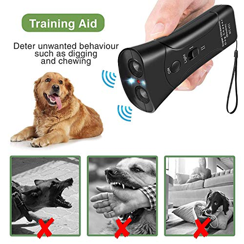 Marsyen Anti Barking Handheld Ultrasonic Dog Trainer Device – Electronic Dog Deterrent/Training Tool/Stop Barking