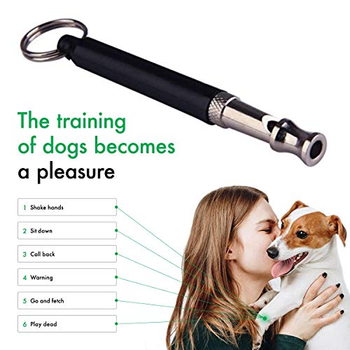 STÙNICK Dog Whistle, Professional Dog Training Whistle to Stop Barking, Adjustable Pitch Ultrasonic Pet Whistle Training Tool Silent Bark Control for Dogs