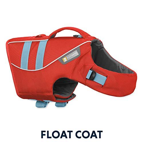 RUFFWEAR – Float Coat Dog Life Jacket for Swimming, Adjustable and Reflective, Sockeye Red, Large