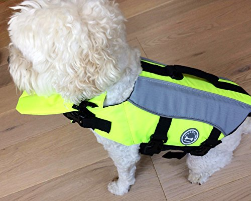 Vivaglory Dog Life Jackets with Extra Padding for Dogs, X-Small – Extra Reflective Yellow
