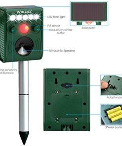 FRYZOO Ultrasonic Pest Animal Expeller Outdoor Solar Powered with Motion Sensor, Repel Cat Dog Deer Bird, Waterproof Expeller for Farm, Garden