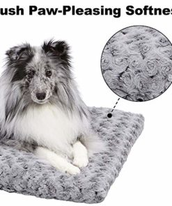 Plush Pet Bed 40624-SGB| Ombré Swirl Dog Bed & Cat Bed | Gray 23L x 18W x 1.75H Inches for Small Dog Breeds