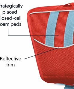 RUFFWEAR – Float Coat Dog Life Jacket for Swimming, Adjustable and Reflective, Sockeye Red, Large