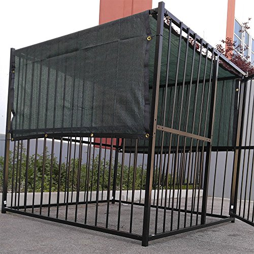10′ X 10′ Dark Green UV Rated Dog Kennel Shade Cover, Sunblock Shade Panel, Shade Tarp Panel W/Grommets (Not the kennel)