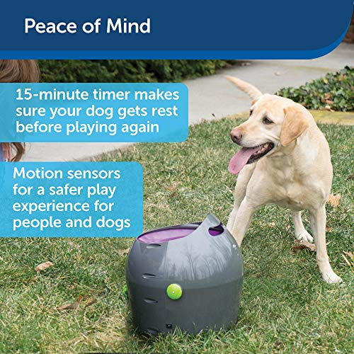 PetSafe Automatic Ball Launcher Dog Toy, Tennis Ball Throwing Machine for Dogs in Easy-Open Packaging