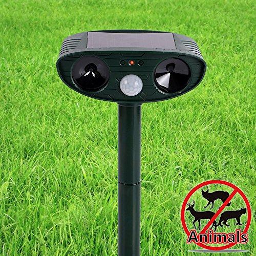 Enternal star Animal Repeller and Solar Pest Effective & Humane Outdoor Deterrent for Bird, Cat, Dog, Squirrel Ultrasonic Waterproof Repellent