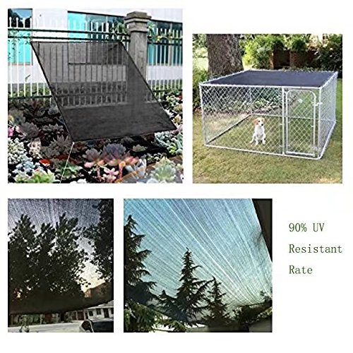 HomeABC Dog Kennel Shade Cover 90% Sunblock Shade Tarp Panel with Grommets,10ft x 10ft