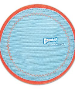 ChuckIt! Paraflight Flyer Dog Toy, Small (Orange/Blue)