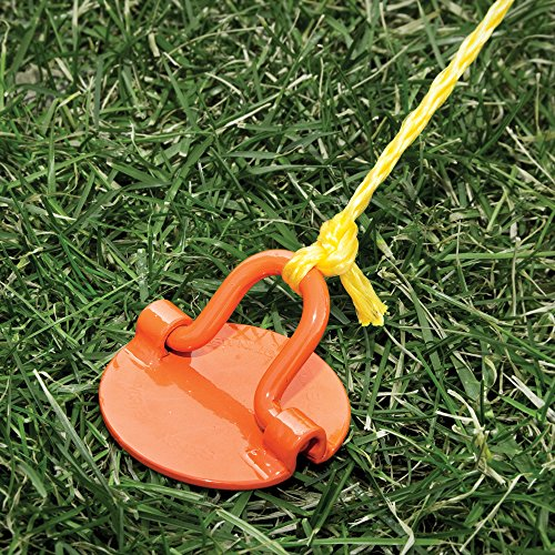 Liberty Outdoor ANCFR10-ORG-A Folding Ring Spiral Ground Anchor, Orange, 10-Inch, Single