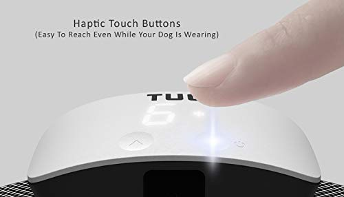 TUG Upgraded Rechargeable Bark Collar; Adjustable Modes; Exclusive Easy Touch Interface – Buttons on Front of Device to Adjust While Being Worn