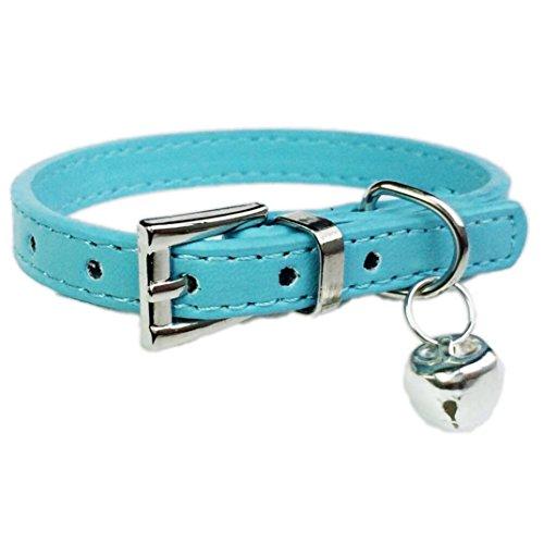 IEason Pet Collar, Hot Cute Bell Bell Collar Small Dog Collar Cat Collars Necklace (Same Size, Blue)