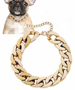 Posh Petz Gold Link Chain Necklace for Dogs – 27 cm – Tiny Bling for Small Dog or Puppy – Lightweight Braided Metal Look – Fits Chihuahua, Yorkie, Mini Breeds – Cute Pet Jewelry and Accessories