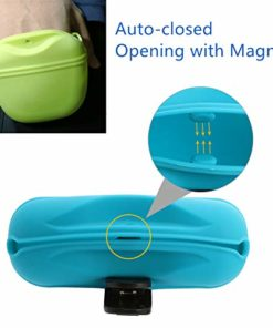 RoyalCare Silicone Dog Treat Pouch-Small Training Bag-Portable Dog Treat Bag for Leash with Magnetic Closure and Waist Clip-for Homemade Treats-BPA Free