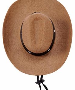 Rubie's Brown Cowboy Hat for Pets, Small/Medium