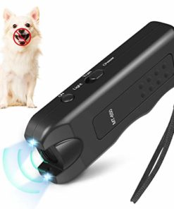 Mimill Handheld Dog Repellent, Ultrasonic Infrared Dog Deterrent, Bark Stopper + Dog Training