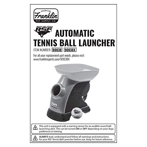 Franklin Pet Supply Ready Set Fetch Automatic Tennis Ball Launcher Dog Toy – Authentic Tennis Ball Thrower – Interactive Toy