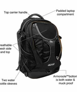 Kurgo Dog Carrier Backpack for Small Dogs & Cats | G-Train Pet Backpack Carrier | Airline Approved | Cat Backpack | Small Dog Backpack for Hiking & Travel | Lightweight | Waterproof Bottom