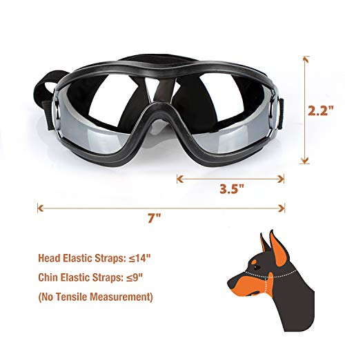 Namsan Dog Goggles – Large Breed Dogs Sunglasses Snow-Proof Waterproof Doggles Sunproof Adjustable Goggles for Medium to Large Dogs