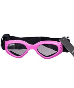 cocopet [New Version] Adorable Dog Goggles Pet Sunglasses Eye Wear UV Protection Waterproof Sunglasses for Puppy Dogs Small Medium Pink
