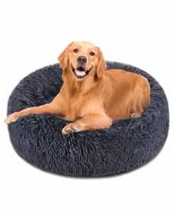 """FOCUSPET Dog Bed Donut, Faux FurCuddler Bed Size 30"""" for Cats & Dogs Round Ultra Soft WashableSelf Warming Pet Cuddler Beds"""