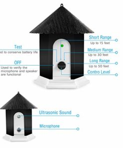 Humutan Anti Barking Device, Ultrasonic Barking Control Device, Waterproof Outdoor Anti Bark Deterrents in Birdhouse Shape