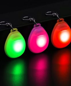 Higo LED Dog Tags, Pack of 3PCS Light Up Clip-on Pet ID Tags Key-Chain, Glow in The Dark Blinking Dog Safety Light Pendants Make Your Dogs Visible& Safe at Night (Red, Pink, Green)