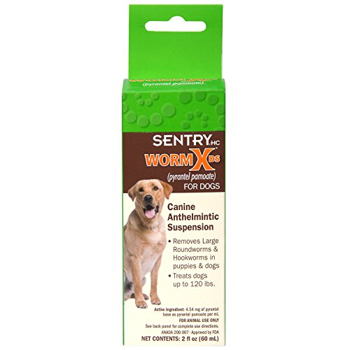 SENTRY HC WormX DS (pyrantel pamoate) Canine Anthelmintic Suspension De-wormer for Dogs, 2 oz