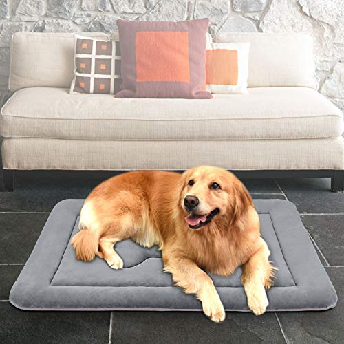 JoicyCo Large Dog Bed Crate Pad Mat 42″ Washable Non-Slip Bottom Pet Bed Cat Beds Mattress Kennel Pad