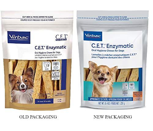 Virbac C.E.T. Enzymatic Oral Hygiene Chews, Small Dog, 30 Count