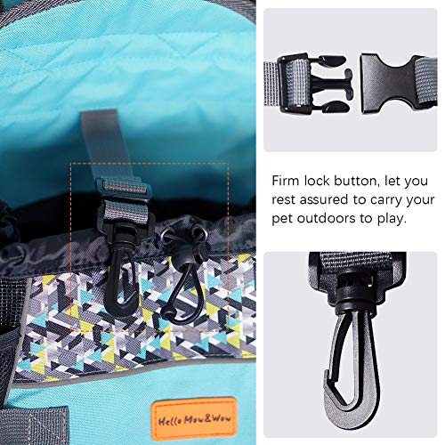 Cinf Pet Carrier Backpack, Adjustable Pet Front Cat Dog Carrier Backpack Travel Bag,Easy-Fit for Traveling Hiking Camping for Small Medium Dogs Cats Puppies,Outdoor Use,Blue